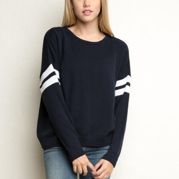 Brandy Melville , Brandy Melville Veena Sweater in Navy from Hanna\u0027s closet  on Poshmark