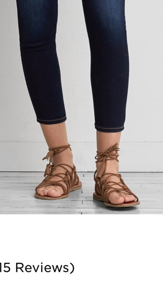 shoes flat sandals strappy sandals brown