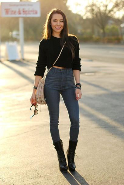 blouse pants sweater bag
