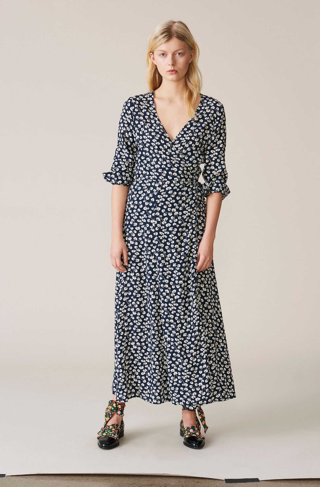 los angeles special section buying cheap Roseburg Crepe Wrap Dress