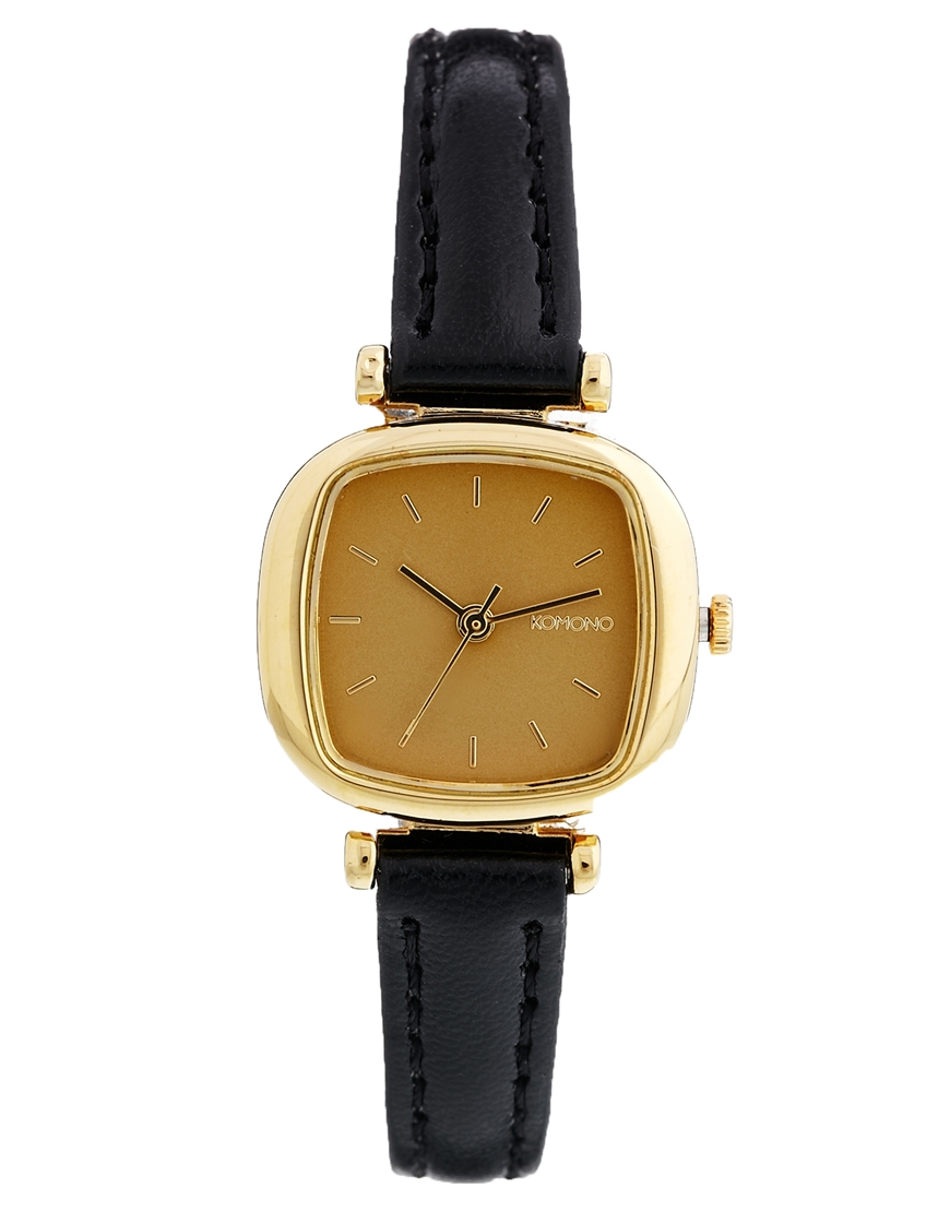 Komono Black Moneypenny Watch at asos.com