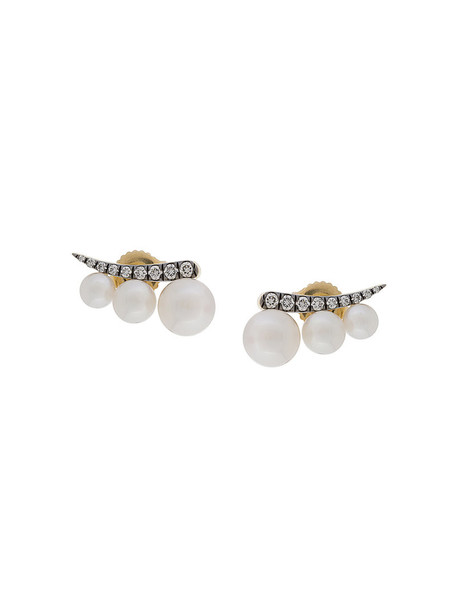Jemma Wynne women earrings stud earrings gold white yellow jewels