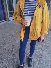 jacket,yellow,mustard,yellow coat
