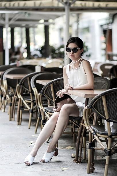 fake leather blogger dress top bag sunglasses jewels