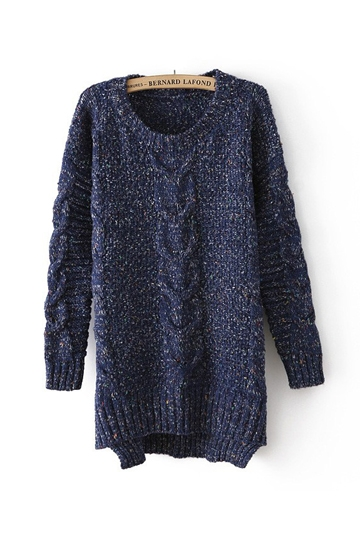 Retro Twist High Low Loose Sweater [FKBJ10311]- US$39.99 - PersunMall.com