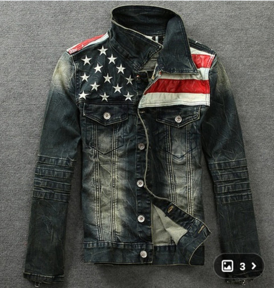 american flag jacket awesome!