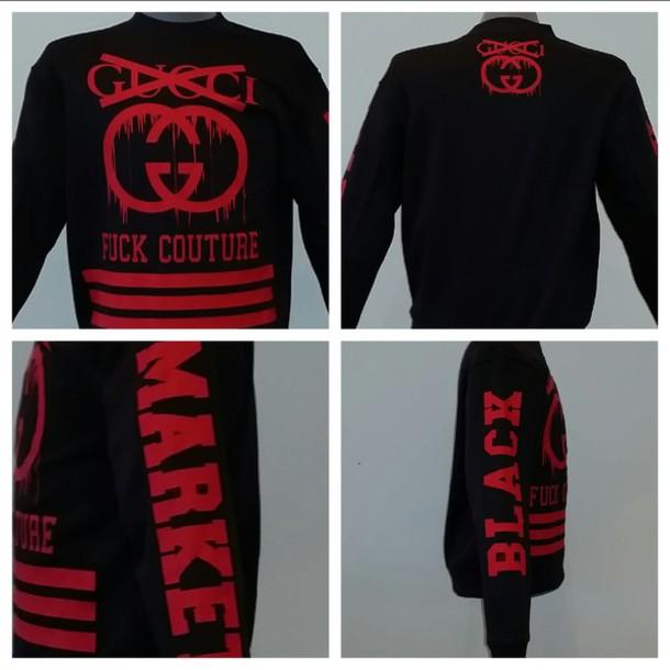 sweater fuck couture fuck chanel black sweater blogger fashion streetwear