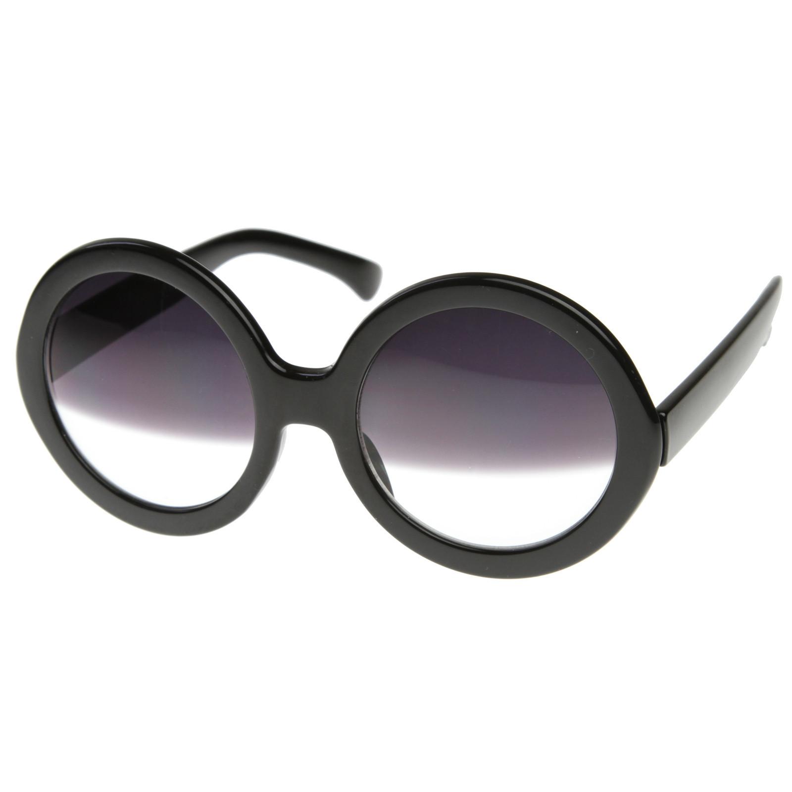 Celebrity nicole richie oversize round half tint sunglasses 8511