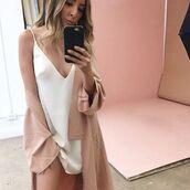 dress,cape,coat,blush,satin,silk,choker necklace,plunge v neck,strappy,open back,kimono,blogger,trendy,lounge,drape,boho