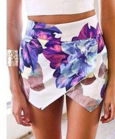 Floral print lotus envelope skirt/skort from tumblr fashion on storenvy