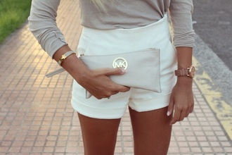 shorts white romper michael kors girl pretty coachella festival look beige nudes lookbook