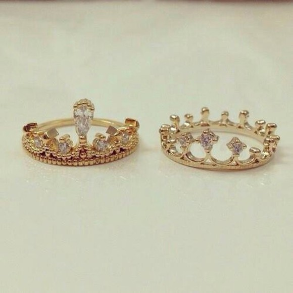 jewels gold ring king and queen