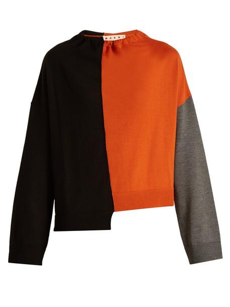 MARNI sweater wool knit black