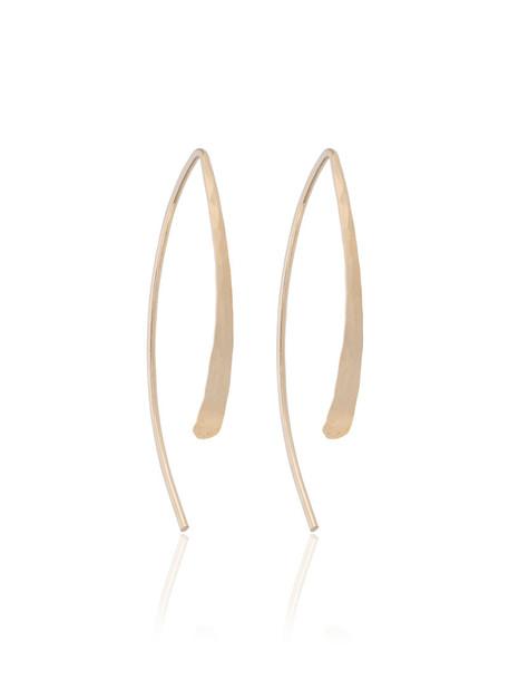 Melissa Joy Manning open women earrings hoop earrings gold grey metallic jewels