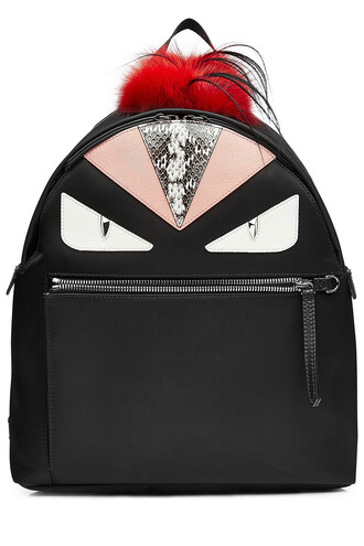 fur fox backpack multicolor bag