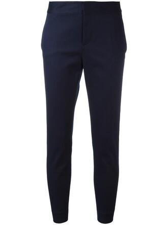 women cotton blue pants