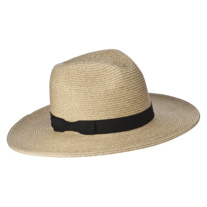 075924ad927 Mossimo Supply Co. Tan Panama Hat with Black Gro...   Target