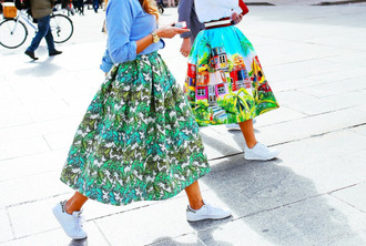 skirt motifs print colorful colorful prints fashion