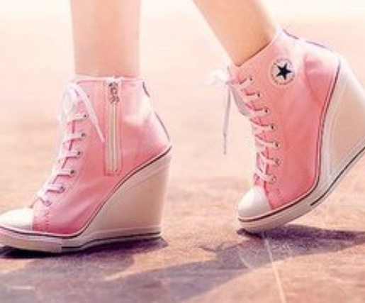 CONVERSE WEDGES PINK