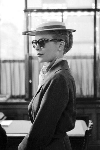 hat grace kelly actress sunglasses cat eye coat hairstyles classy retro