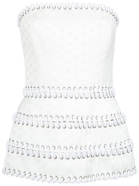 Reinaldo Lourenço - strapless top - women - Cotton/Acetate - 38, Cotton/Acetate