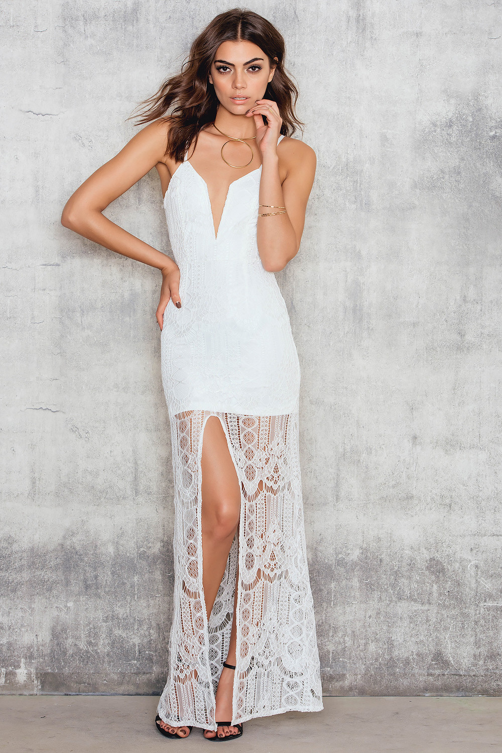 Passion Fusion Lace Maxi Dress