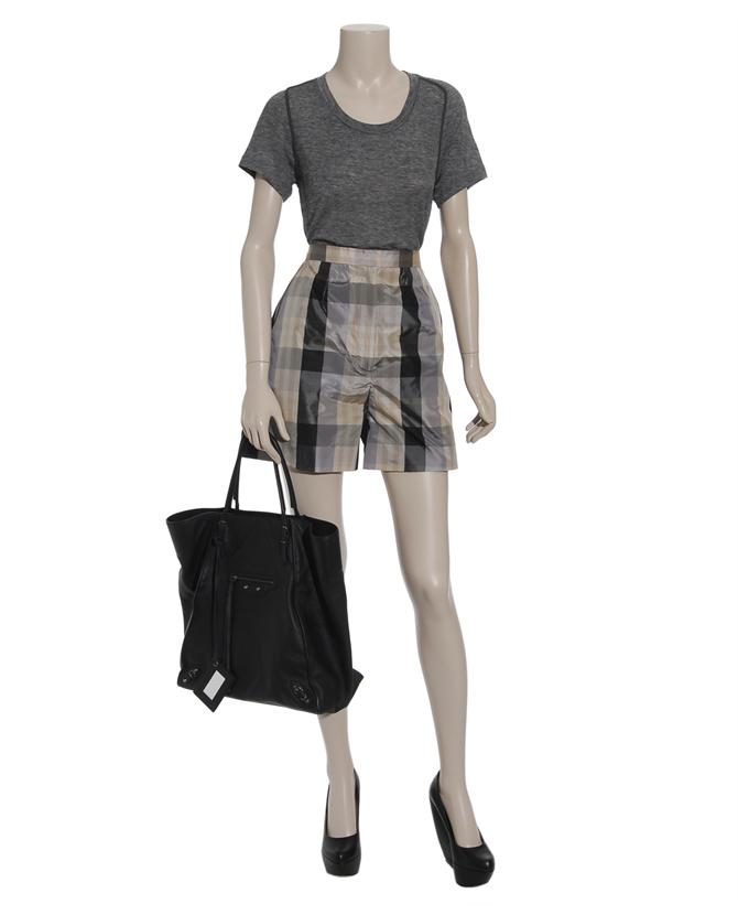 Roksanda Ilincic Exclusive Checked Silk Taffeta Shorts