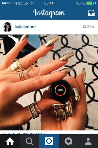 nail polish nail accessories perfect beautiful kylie jenner kendall and kylie jenner jewels