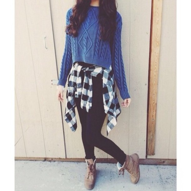 sweater blue knitwear leggings shoes haut top sky bleu winter sweater shirt