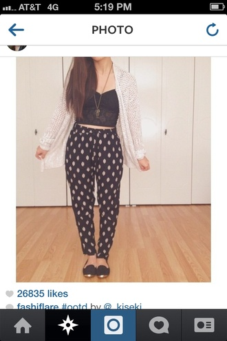 pants polka dots harem harem pants trotters jog trotters drawstring drawstring pants cute pretty fashion blue white blouse shirt