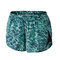 Nike printed modern tempo short (w) medium mint black silver - womens clothing