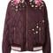 Dolce & gabbana - embroidered bomber jacket - women - polyamide/polyester - 42, pink/purple, polyamide/polyester