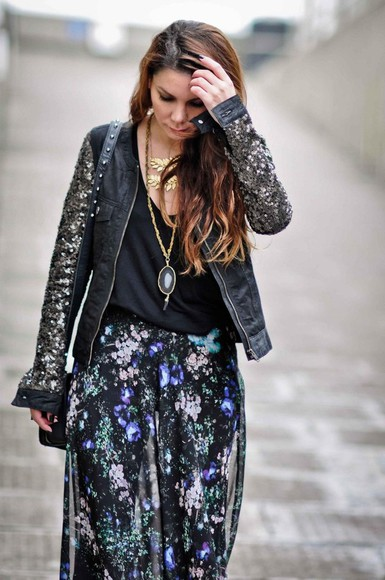 floral pattern skirt maxi skirt jacket black skirt multi colored summer outfits