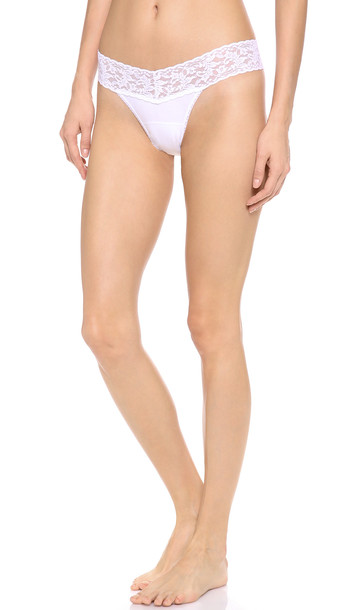 Hanky Panky Cotton With A Conscience Petite Low Rise Thong - White