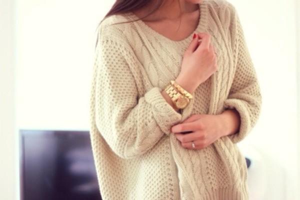 sweater girl beautiful white knit knitted sweater white knit sweater weheartit tumblr