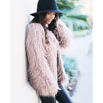 coat fur fur coat faux fur faux fur coat pink fur coat mauve mauve coat furry coat