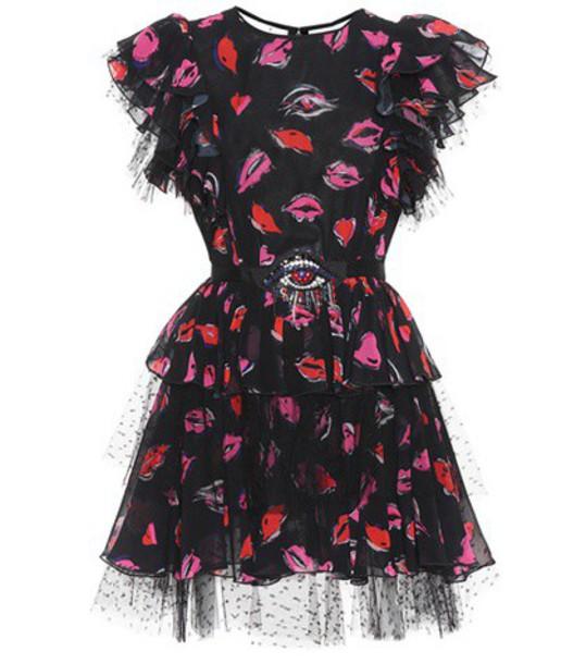 MSGM dress embellished dress embellished black