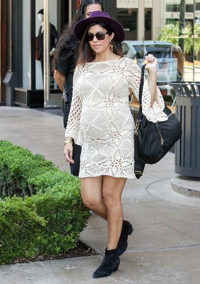 boho hat dress kourtney kardashian