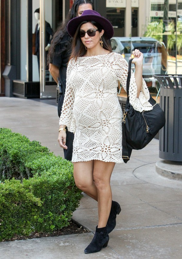 dress kourtney kardashian boho hat maternity