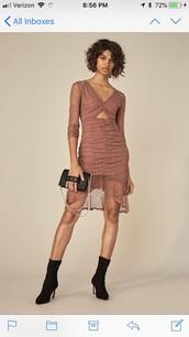 dress,blush dress lace