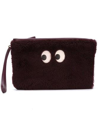 eyes clutch purple pink bag