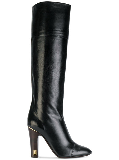 Marc Jacobs tall boots women leather black shoes