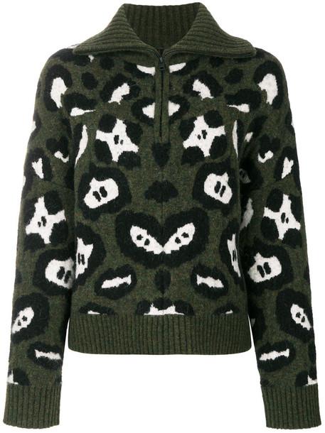 Zadig & Voltaire jumper women spandex wool green sweater