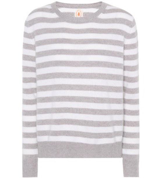 Jardin des Orangers Striped cashmere sweater in grey