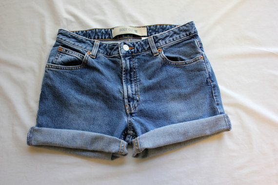Custom High Waisted Shorts / Plain / Cuffed / Any by RetroFriday