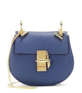 mini bag shoulder bag leather blue