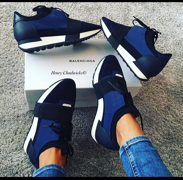 Shoes: balenciaga, blue sneakers, sneakers