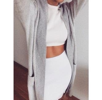 skirt white skirt fashion outfit white top