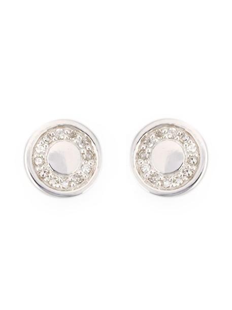 mini women earrings silver grey metallic jewels