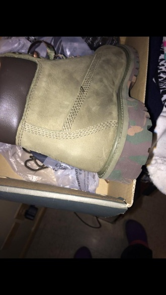 shoes boots timberland boots green camo camouflage winter boot custom shoes custom army boots army fatigue army green